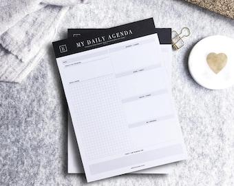 My Daily Agenda | Notepad | Undated Planner | Daily Planner | Deskpad