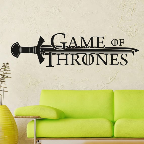 games of thrones wall decal got gift decal gamer wall decal | etsy
