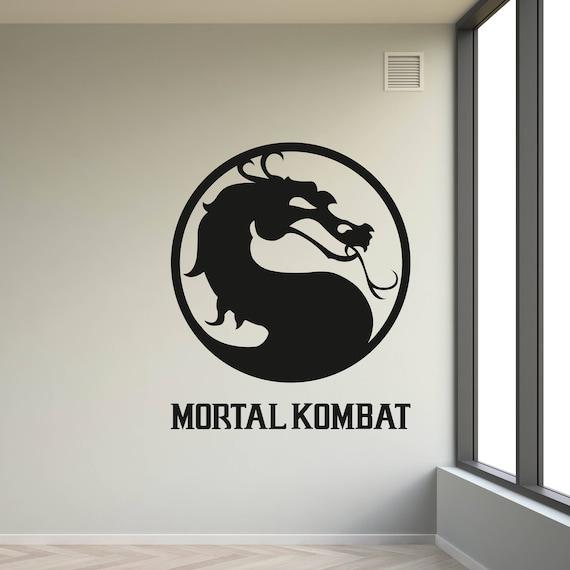 Mortal Combat Wall Decal Mortal Kombat Symbol Decal Dragon