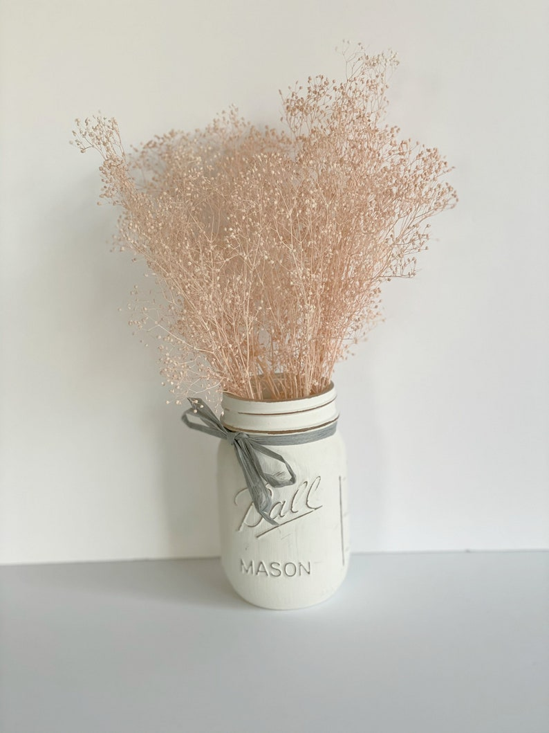 Blush Pink Real Dried Baby breath Dried Flowers BunchesDried image 0