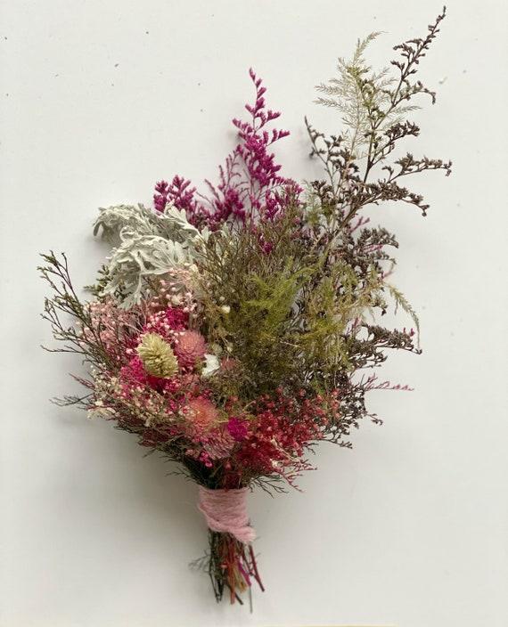 Mini Dried Flower Bouquet Mini Bouquet Small Dried Floral Etsy