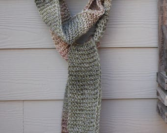 Knitted long Scarf, Gift, Knitted Scarf