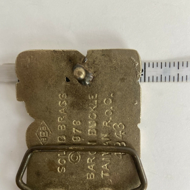 Vintage 1978 Baron Brass Belt Buckle SHAWN Personalized Name Buckle BBB