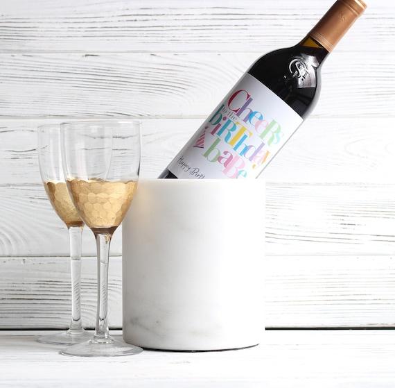 Personnalisé 21st Anniversaire Brillant Bouteille De Vin étiquette-faire un cadeau UNIQUE fille