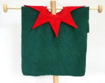 Christmas Elf bib - baby's first Christmas bib which doubles as an elf costume.