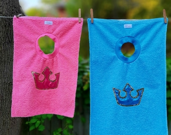 Crown bib - Fit for a little Price or Princess.  Other colours available.  Made in Canada.