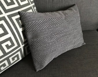 Gray Herringbone Woven Accent Pillow Cover