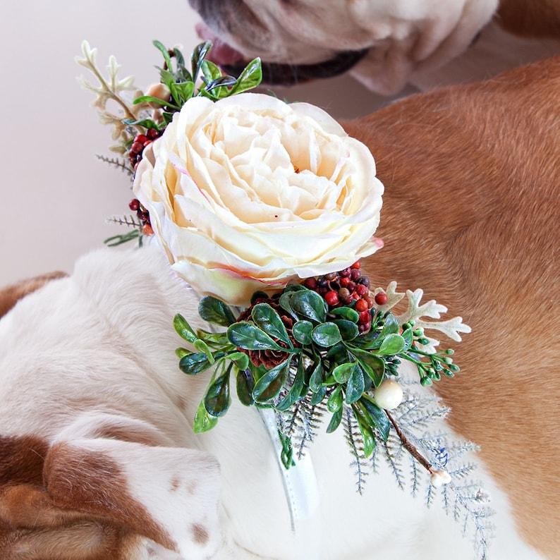 Fiori Bohemien Matrimonio : Noel matrimonio collare di cane cane corona di fiori etsy