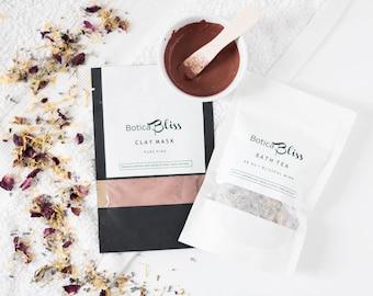 Bath Tea Herbal Detox Mask Birthday Gift Mothers Day Gift Natural Skin Care Set Gift for Girlfriend Vegan Skincare Natural Organic Skin Care
