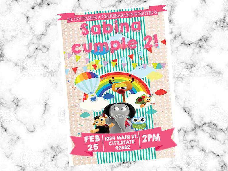 Baby TV Digital Invitation Birthday Party