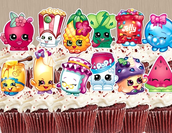 Instant Download Shopkins Cupcake Toppers Cupcakes