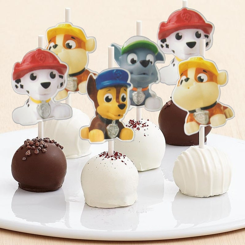 Pop Patrol Paw Pops Party Digital Puppies Print Cake You Toppers 1J3FTlKc