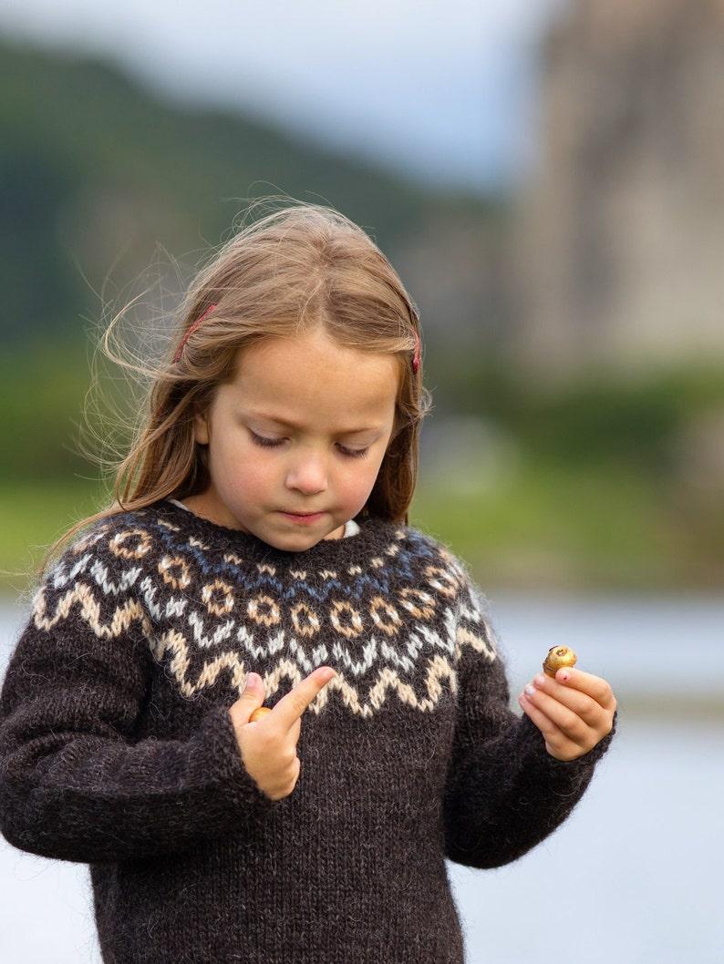 abbbfc828 Knitting KIT    Child s Icelandic Patterned Yoke Lopapeysa