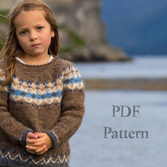 Knitting Pattern Pdf Download Childs Icelandic Etsy