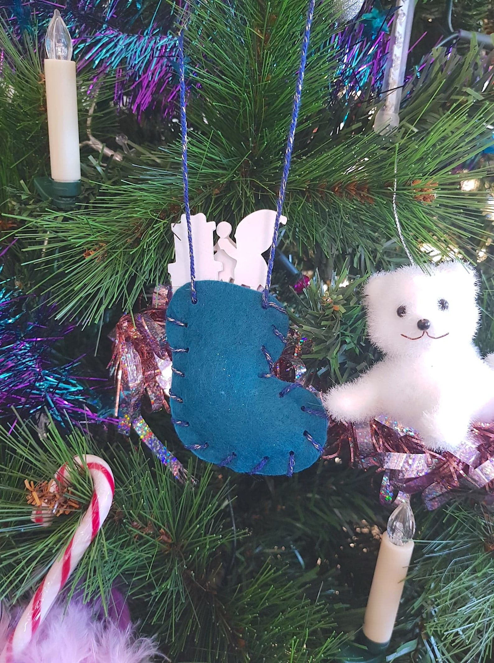ballet shoe christmas bi-color to customize