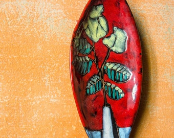 Midcentury Decorative Plates - Italian Pottery - Italian Ceramic Plates - Set of 2