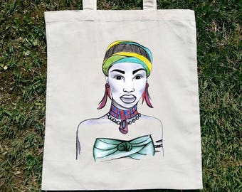 African Tote Bag, African Canvas Bag, African Shoulder Bag, African Cotton Bag, African Beach Bag, African Woman Bag, African American