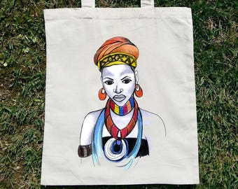 African Tote Bag, African Gift, African Grocery Bag, Afro American, I love Africa, African Tote, African Shopping Bag, African Woman