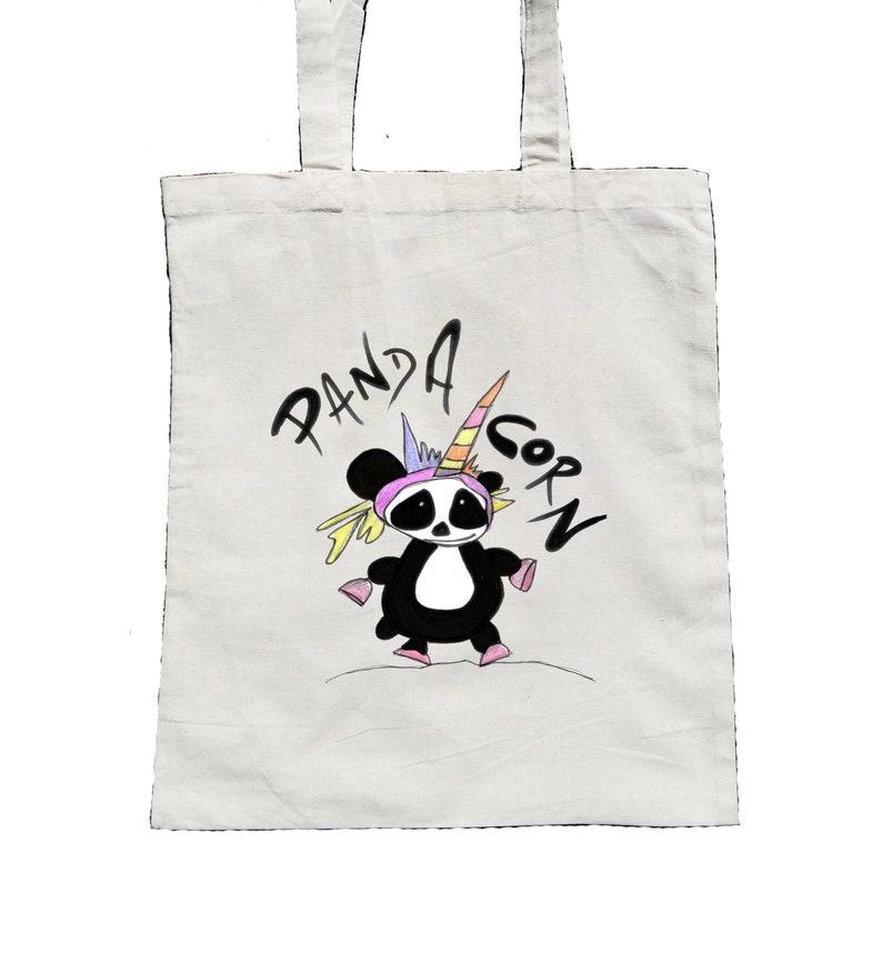 Gift For Her Unicorn Bag Panda Corn Unicorn Tote Bag Canvas Tote Bag Panda Gifts Unicornio Panda Tote Bag Panda Birthday Party