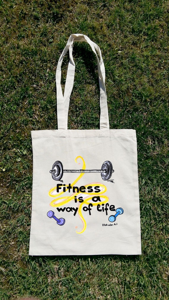 Fitness Tote Bag Fitness Is A Way Of Life Fitness Bag Gym  2052e3f1acd9d