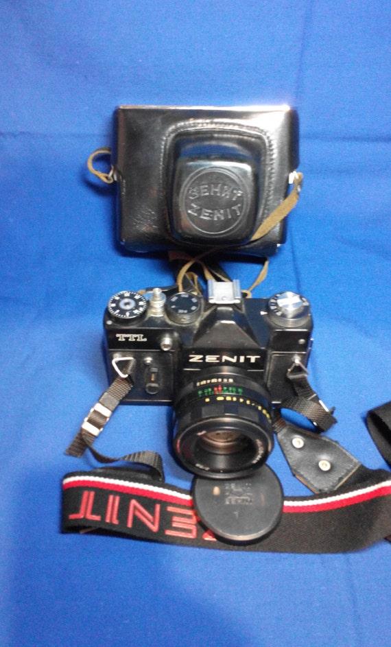 zenit ttl vintage soviet camera helios 44m lens etsy