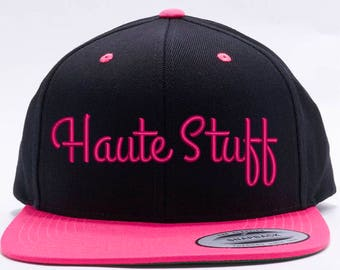 fc8749921e539 3D HAUTE STUFF Design on Wool 2 TONE Snapback Cap