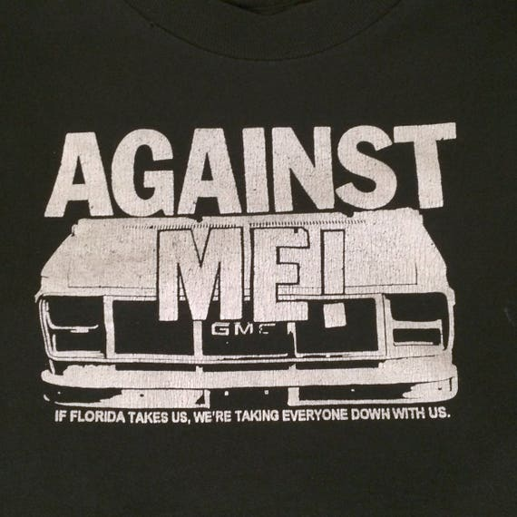 Youth t ME No Idea van shirt AGAINST Records destroyed gmc LARGE qx814ZtqS
