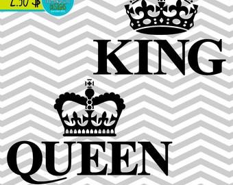 King And Queen Art Etsy