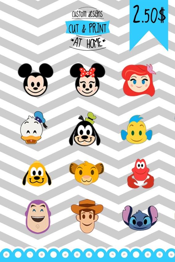 Disney Emoji digital collection 28 models SVG patterns | Etsy