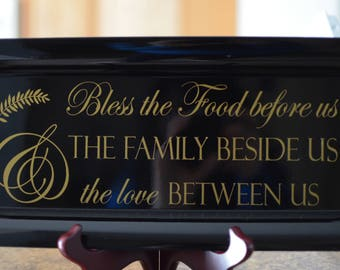 Religious Theme Rectangular Charger Plate