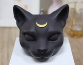 Scented candle in cat shape quot Luna quot made of rapeseed wax, handmade and vegan