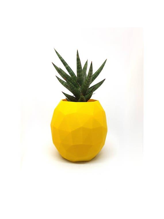 Ananas Blumentopf Ananas Stifthalter Geometrisch Moderne Etsy