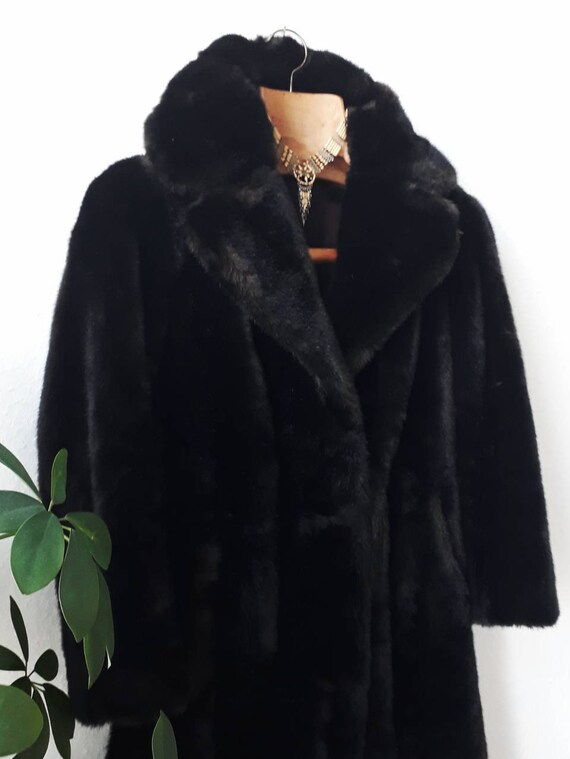Winter Dark Brown Fake Fur Long Coat