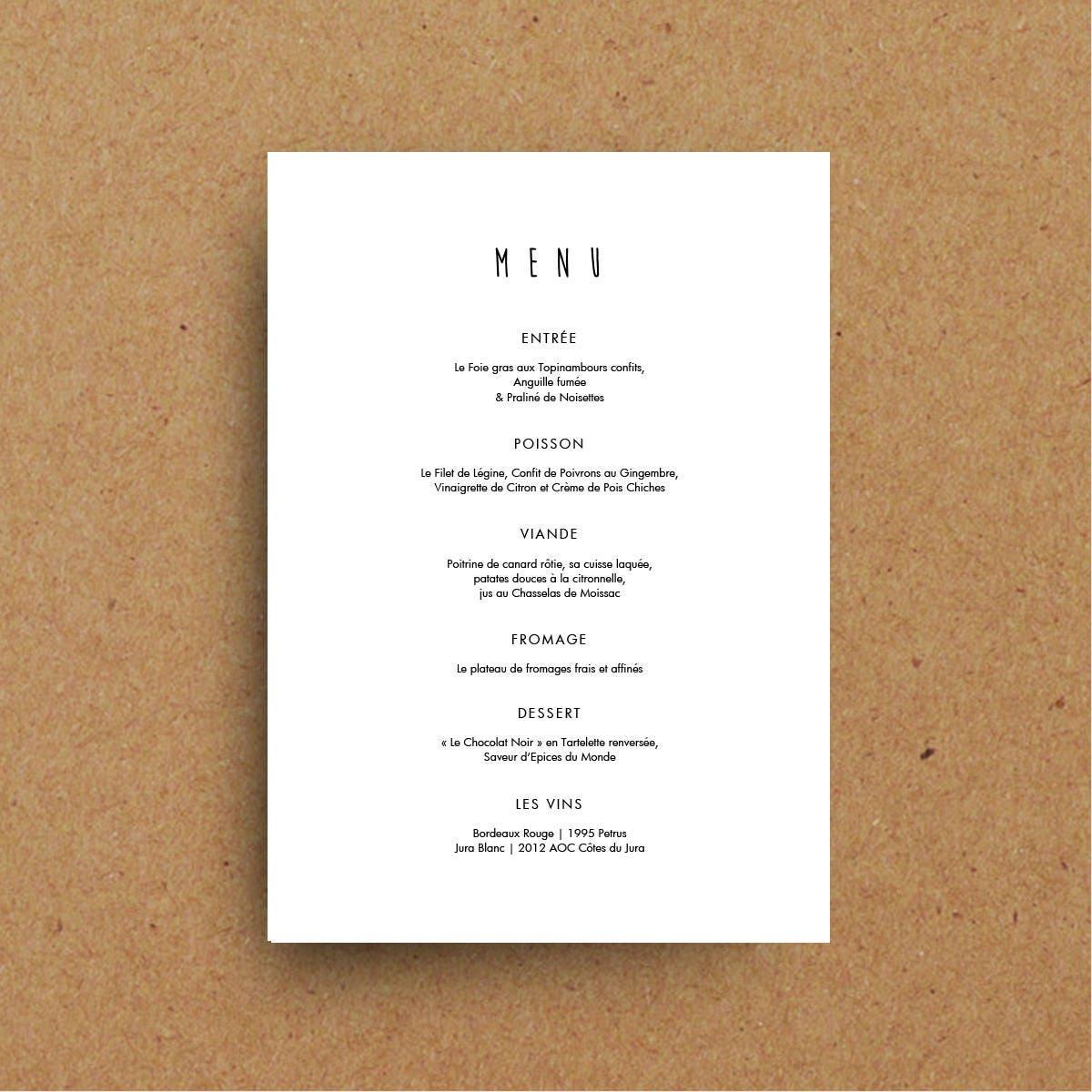 Boda para imprimir plantillas cartas de menú de diseño | Etsy