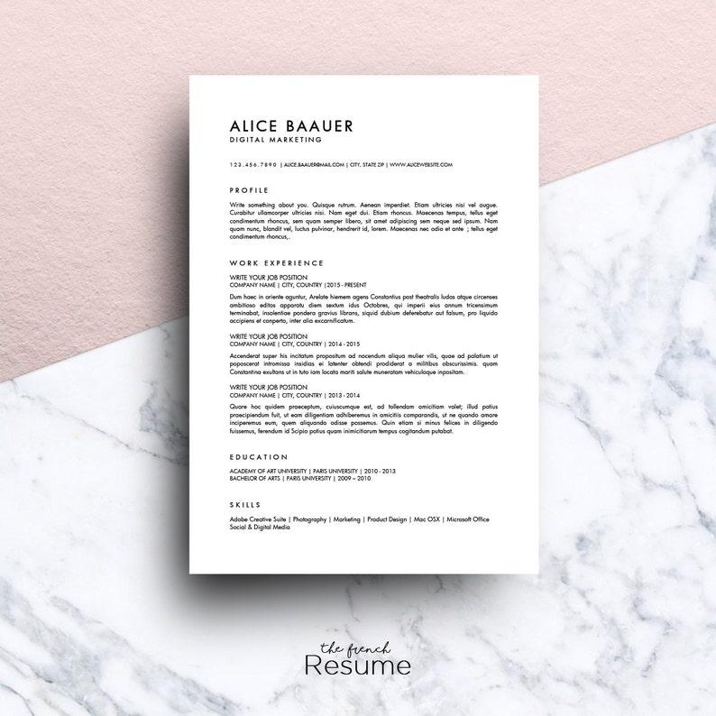 Riprendere Il Modello 3 Pagine CV Cover Letter Etsy