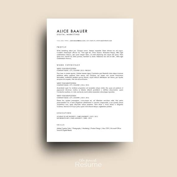 Jr Qa Tester Resume Sample: Resume Template 3 Pages / CV Cover Letter & References For