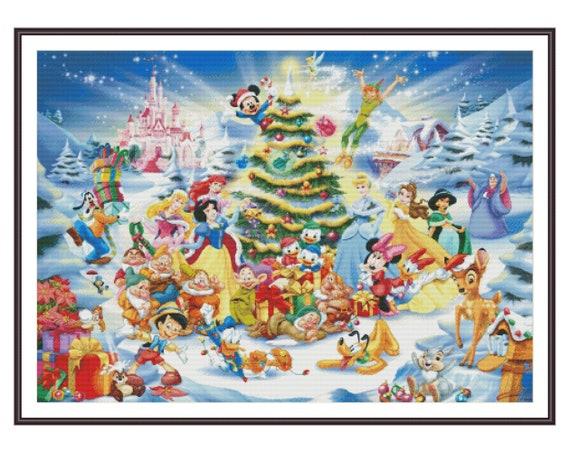 Disney Christmas Pictures.Disney Cross Stitch Christmas Stitch Cross Stitch Pattern Counted Cross Stitch Holiday Diy Gift Diy Baby Room Decor Printable Pdf