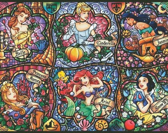 Disney Princesses Counted Cross Stitch Pattern | Extra Large Cross Stitch Chart | Maximum Size and Color | Cartoon Heroes | Printable PDF