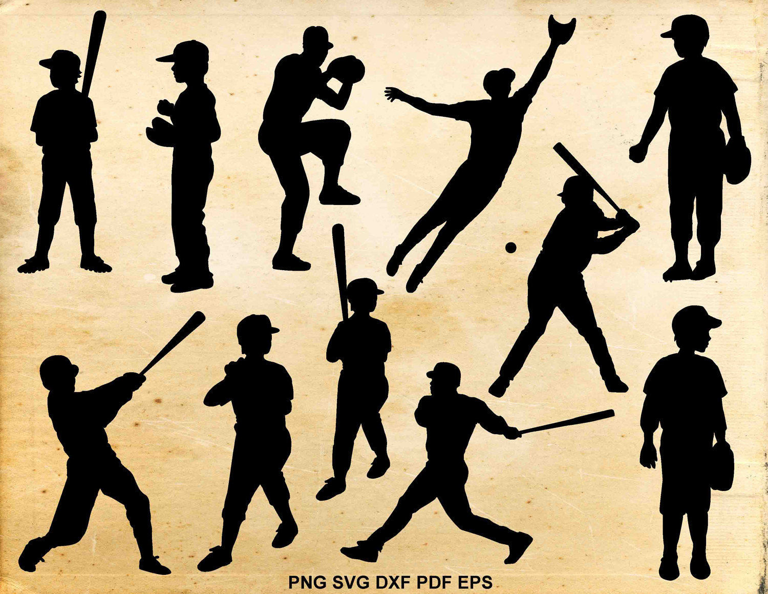 Baseball Player Svg Silhouette Little Etsy Craft Cricut Ideas Crafts Kick Embossing Cricket Circuit 50