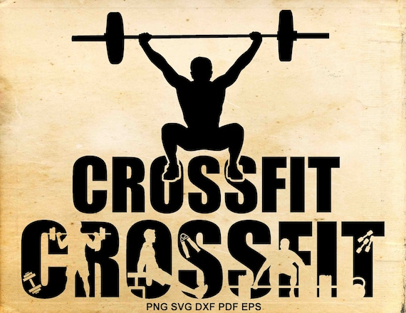 Crossfit Svg Files Crossfit Clipart Silhouette