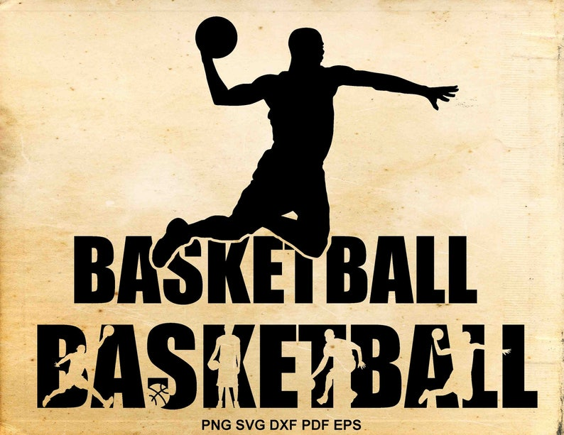 Basketball svg files, Basketball clipart silhouette, Shirt design, Iron on  designs, Cut files for Cricut, Files for Silhouette