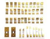 15 x Brass Assorted Mantle Clock Pendulum Suspension Springs, Repair (15mm)