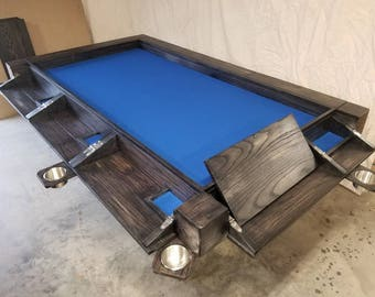 Oak 8 player game table.