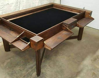 Solid Hickory Board Game Table