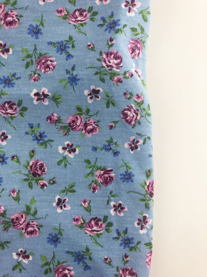 Dog Tee Dog Apparel Blue Floral Printed RayonCotton Thin Lightweight Jersey Tank Top Dog Clothing Made in USA Dog Fashion