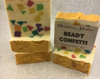 Ready Confetti, Handmade Soap, Cold Process Soap, Handmade Soap, Bar Soap, Gift