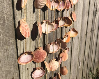 Vintage Seashell Wall Hanging