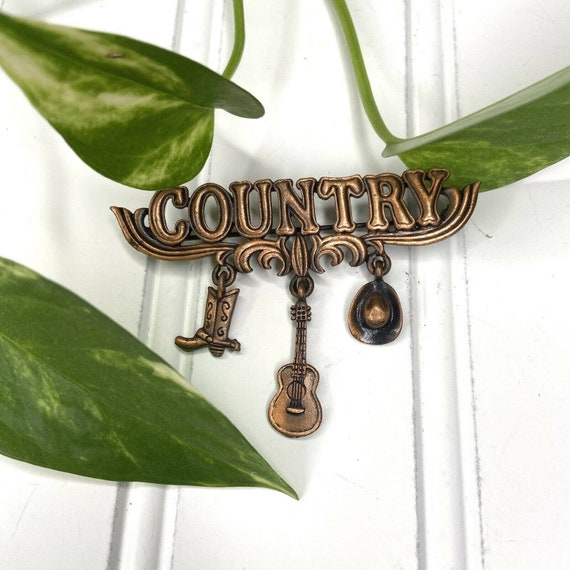 JJ Jonette Old Country Covered Bridge Brooch Pin