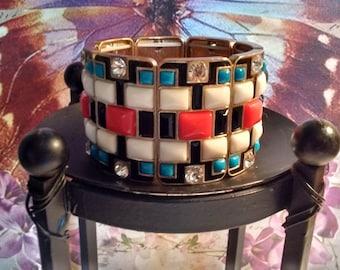 Colorful Statement Bracelet:
