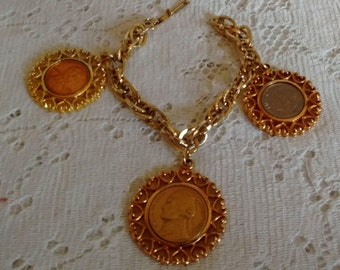 WLP Signed Coin Jewelry:  Vintage 1970's
